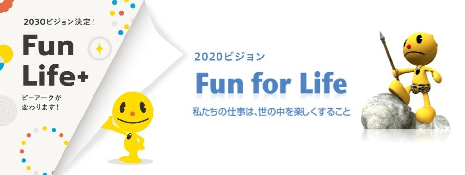 Fun For Life 私たちの仕事は、世の中を楽しくすること 私たちが失ってはならないもの、それは日々、進化すること新たな「遊び」を提案し、レジャー産業という枠組みを超えた「遊びの進化論」で、世の中を楽しくする「Fun産業」を目指して進化し続けます。