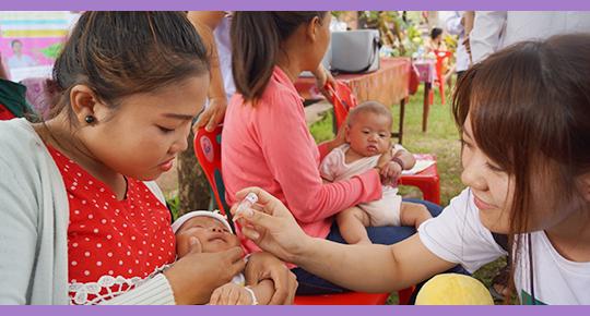 JCVのラオス支援 現地に出張!予防接種を体験させていただきました。