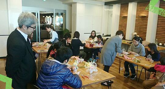 フラワーアレンジメント教室@ピーくんカフェ♪